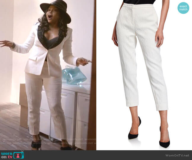 Talaranto Floral Jacquard Pants by Escada worn by Cookie Lyon (Taraji P. Henson) on Empire