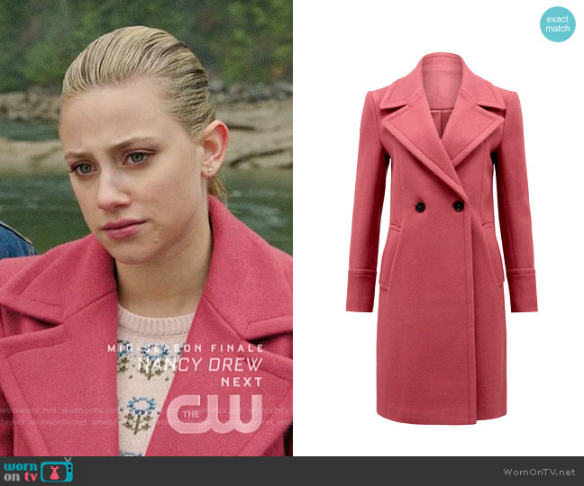 Ever New Ripley Coat worn by Betty Cooper (Lili Reinhart) on Riverdale