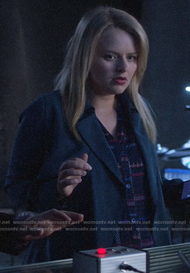Eve's blue trench coat on Supergirl