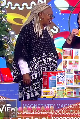 Whoopi's fair isle cape sweater on The View