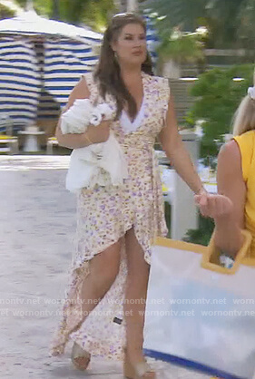 Kelly's orange lace-up front dress on The Real Housewives of Orange County