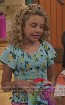 Destiny's floral smocked top on Bunkd