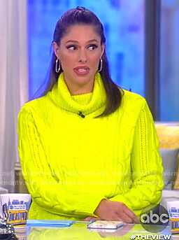 Abby's yellow neon sweater on The View
