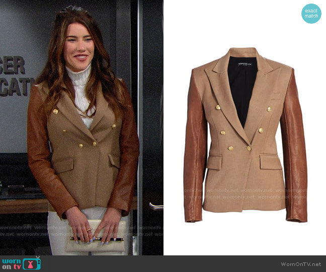 Generation Love Enzo Blazer worn by Steffy Forrester (Jacqueline MacInnes Wood) on The Bold & the Beautiful