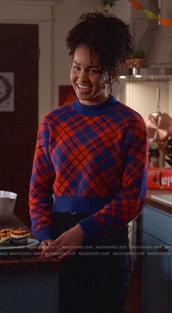 Gina's plaid sweater on High School Musical The Musical The Series