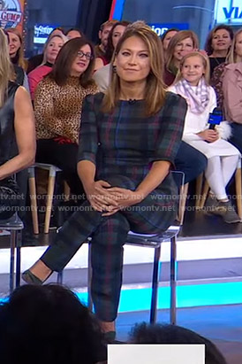 Ginger's plaid top and pants on Good Morning America
