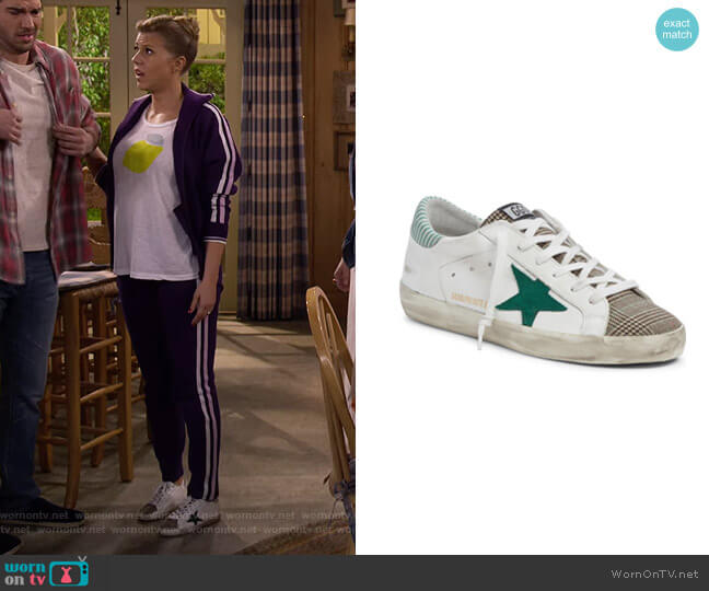 Superstar Mixed Media Sneaker by Golden Goose worn by DJ Tanner-Fuller (Candace Cameron Bure) on Fuller House