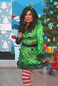 Marie's green Christmas tree dress on The Talk