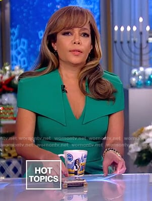 Sunny's green peplum top and pants on The View