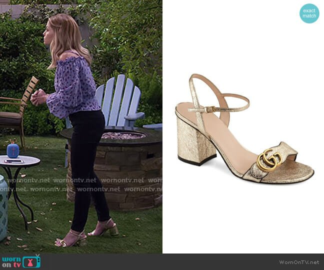 GG Marmont Sandal by Gucci worn by DJ Tanner-Fuller (Candace Cameron Bure) on Fuller House