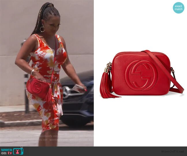 Soho Disco Leather Bag by Gucci worn by Kandi Burruss  on The Real Housewives of Atlanta