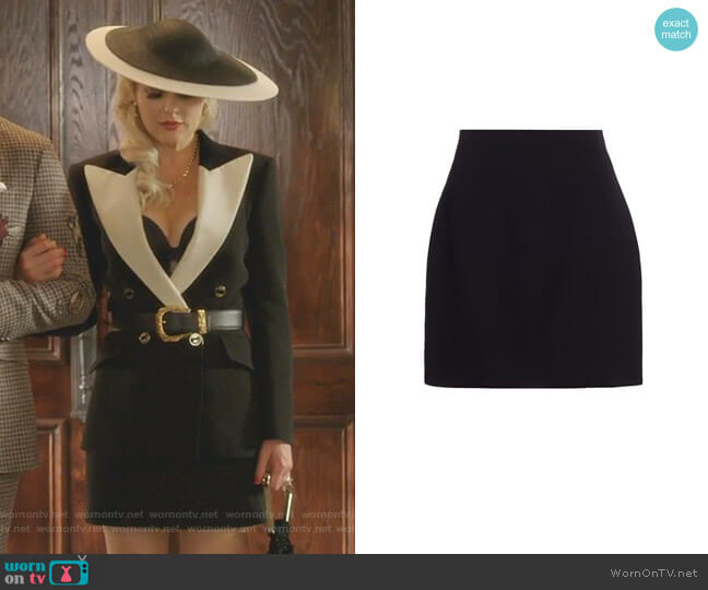 Wool and Silk Mini Skirt by Gucci worn by Alexis Carrington (Elaine Hendrix) on Dynasty