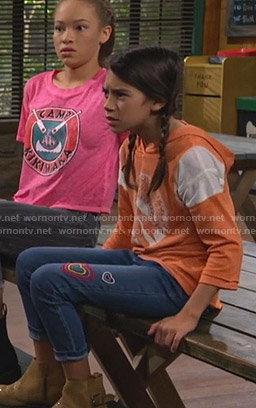 Gwen's heart embroidered jeans on Bunkd
