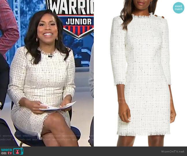 Long Sleeve Tweed Sheath Dress by Harper Rose worn by Sheinelle Jones  on Today