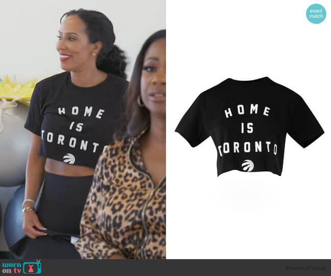 Raptors Peace Collective by Real Sports Apparel worn by Tanya Sam on The Real Housewives of Atlanta