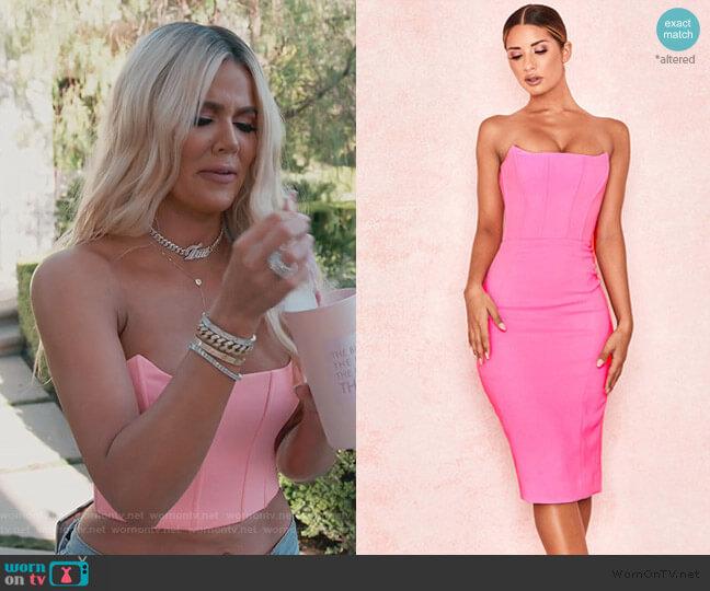Niaz Dress by House of CB worn by Khloe Kardashian  on Keeping Up with the Kardashians
