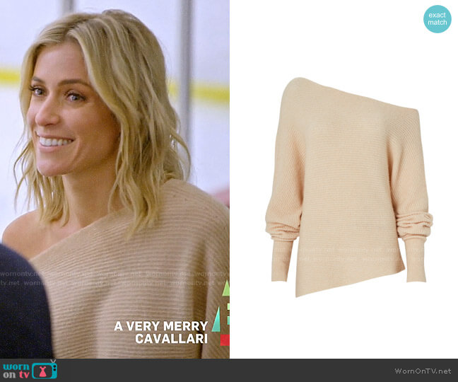 Intermix Virginia Off-The-Shoulder Sweater worn by Kristin Cavallari  on Very Cavallari