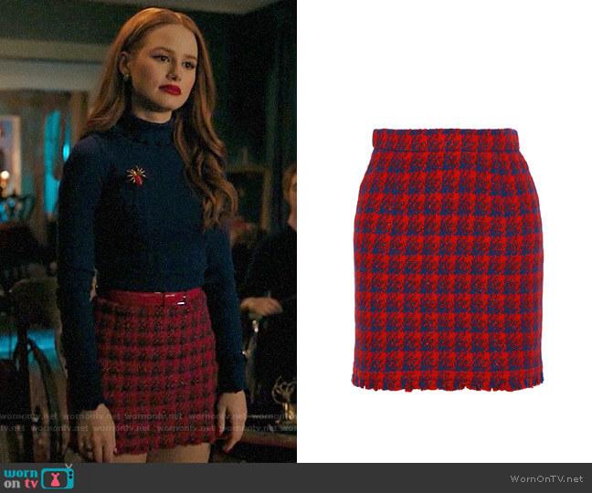 IRO Quisera Skirt worn by Cheryl Blossom (Madelaine Petsch) on Riverdale
