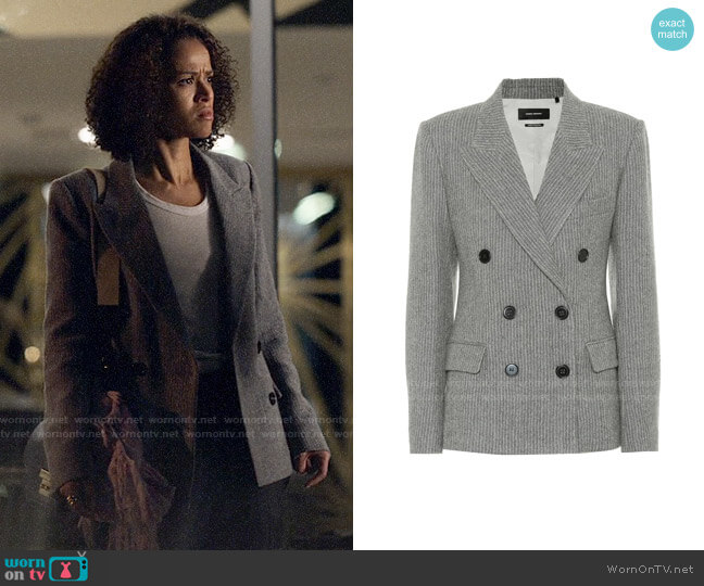 Isabel Marant Eleigh wool and linen blazer worn by Hannah Shoenfeld (Gugu Mbatha-Raw) on The Morning Show