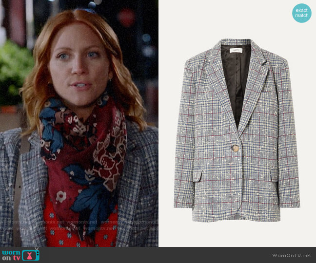 Etoile Isabel Marant Kice Jacket worn by Julia Bechley (Brittany Snow) on Almost Family