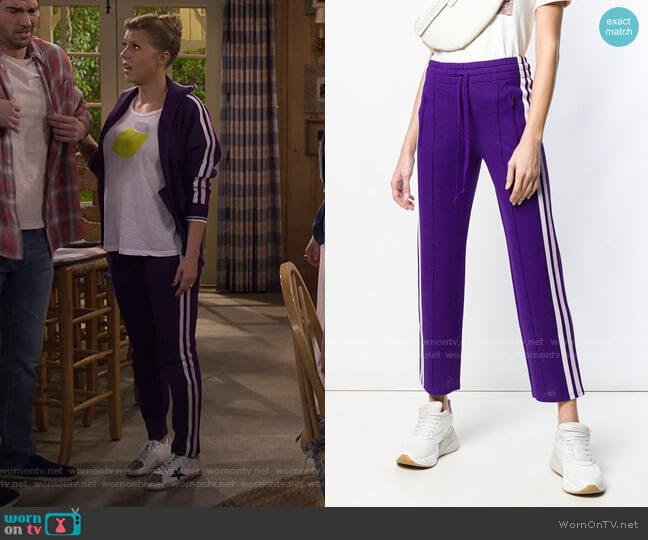 Side Stripe Trousers by Isabel Marant Étoile worn by Stephanie Tanner (Jodie Sweetin) on Fuller House