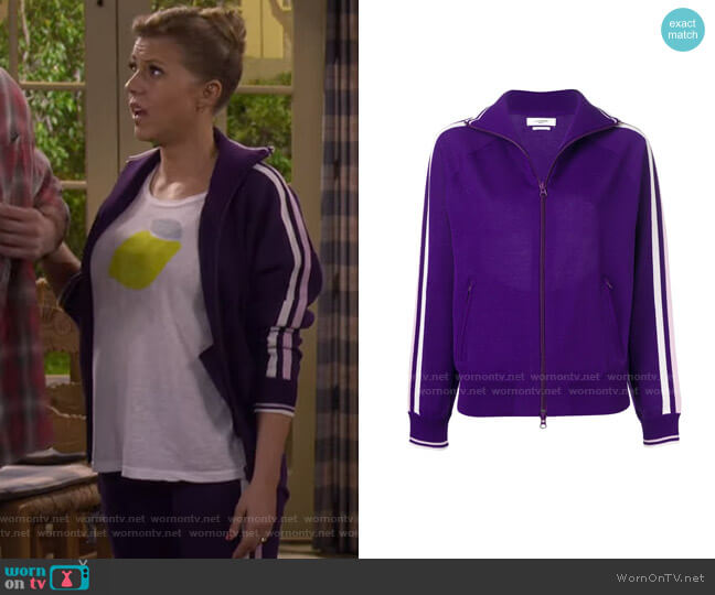 Striped Detail Cardigan by Isabel Marant Étoile worn by DJ Tanner-Fuller (Candace Cameron Bure) on Fuller House