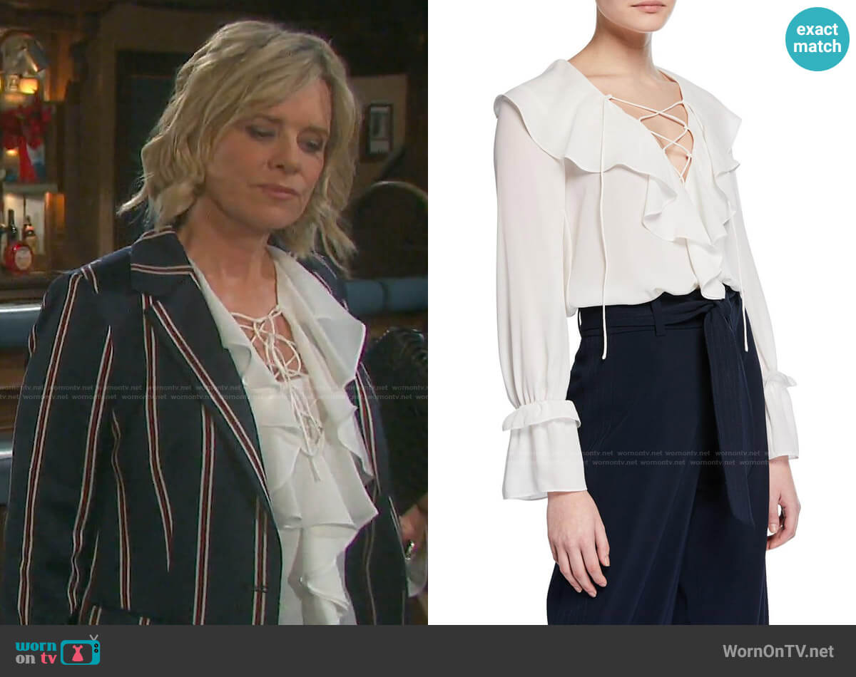 Jay Godfrey Malco Blouse worn by Kayla Brady (Mary Beth Evans) on Days of our Lives