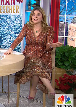 Jenna's metallic dotted printed dress on Today