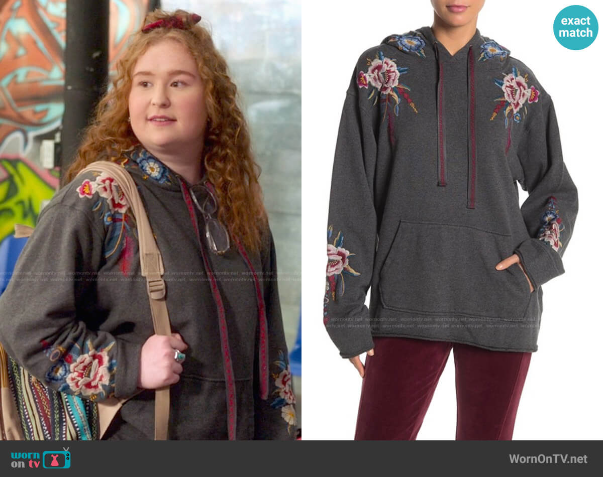 Johnny Was Darielle Pull-On Hoodie worn by Ashlyn (Julia Lester) on High School Musical The Musical The Series