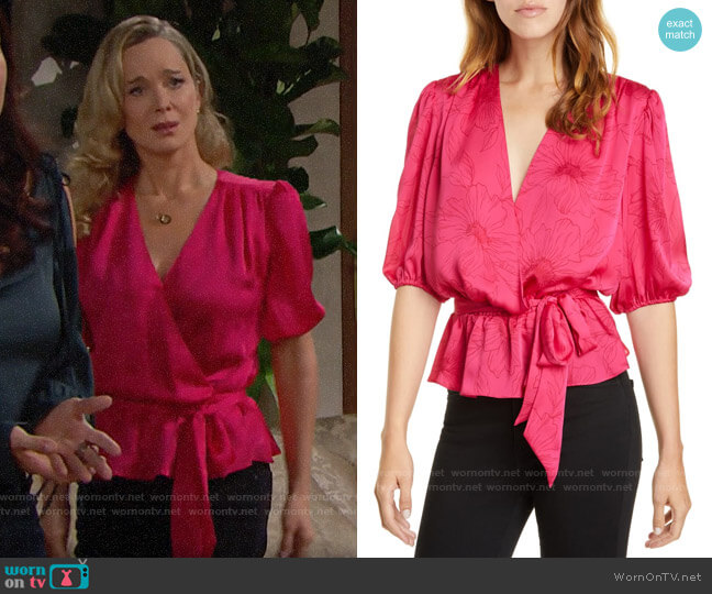 Joie Macie Top  worn by Donna Logan (Jennifer Gareis) on The Bold & the Beautiful