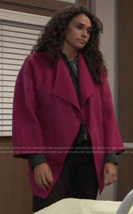 Jordan's pink  coat on General Hospital