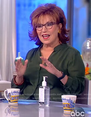 Joy's green silk blouse on The View