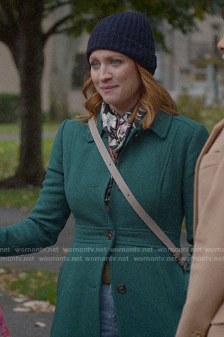 Julia's green coat on Almost Family