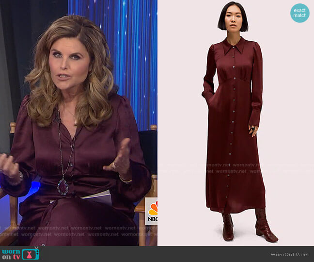 Satin Midi Shirtdress by Kate Spade worn by Maria Shriver  on Today
