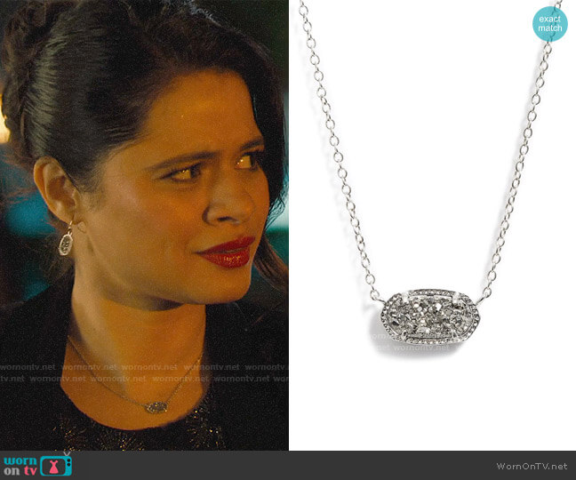 Kendra Scott Elisa Pendant Necklace worn by Mel Vera (Melonie Diaz) on Charmed