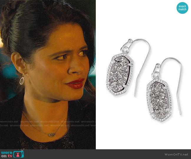 Kendra Scott Lee Small Drop Earrings worn by Mel Vera (Melonie Diaz) on Charmed
