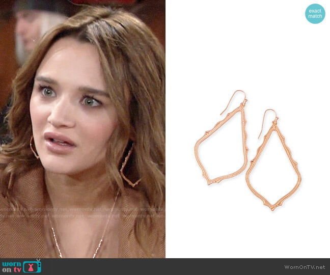 Kendra Scott Sophee Earrings worn by Summer Newman (Hunter King) on The Young & the Restless