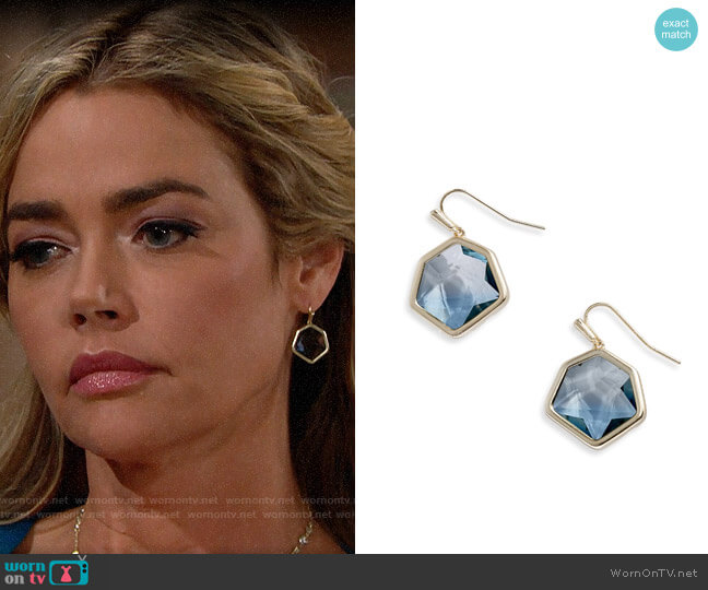 Kendra Scott Vanessa Earrings worn by Shauna Fulton (Denise Richards) on The Bold & the Beautiful
