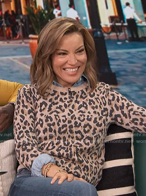 Kit's leopard print sweater on Access Hollywood