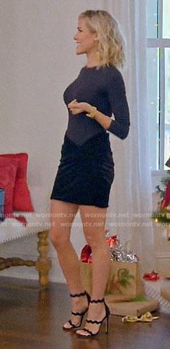 Kristin's ruched velvet skirt on A Very Merry Cavallari