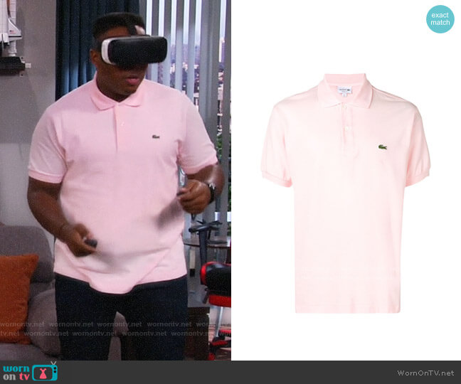 Lacoste Embroidered Logo Polo worn by Marty (Marcel Spears) on The Neighborhood