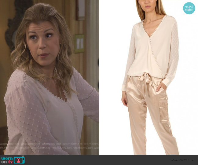 Perry Blouse by L'Agence worn by Stephanie Tanner (Jodie Sweetin) on Fuller House