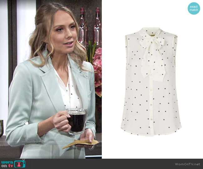 L'Agence Natalia Star Top worn by Abby Newman (Melissa Ordway) on The Young & the Restless