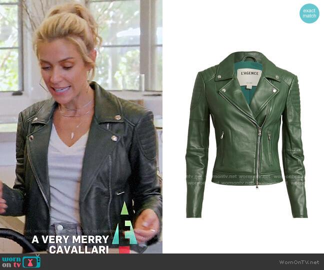 L'Agence Ryder Leather Jacket worn by Kristin Cavallari  on Very Cavallari