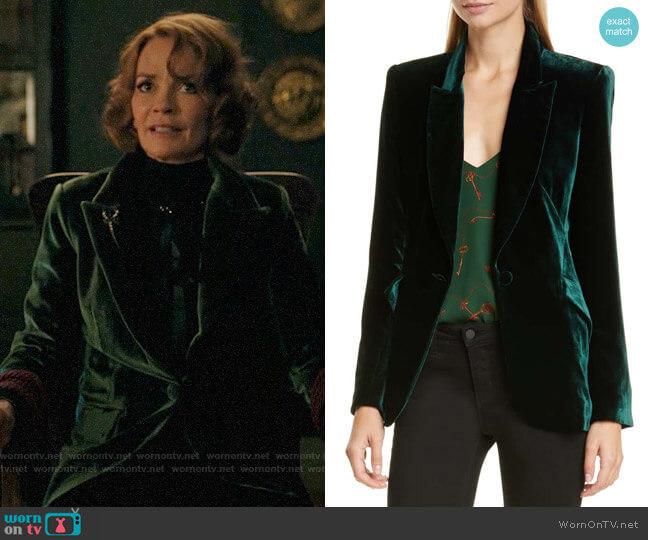 L'Agence Velvet Blazer worn by Penelope Blossom (Nathalie Boltt) on Riverdale