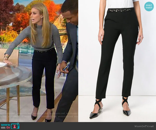 Crystal-Embellished Trousers by Lanvin worn by Jill Martin  on Today