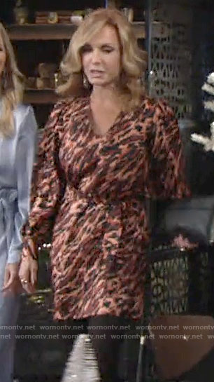 Lauren's animal print dress on The Young and the Restless