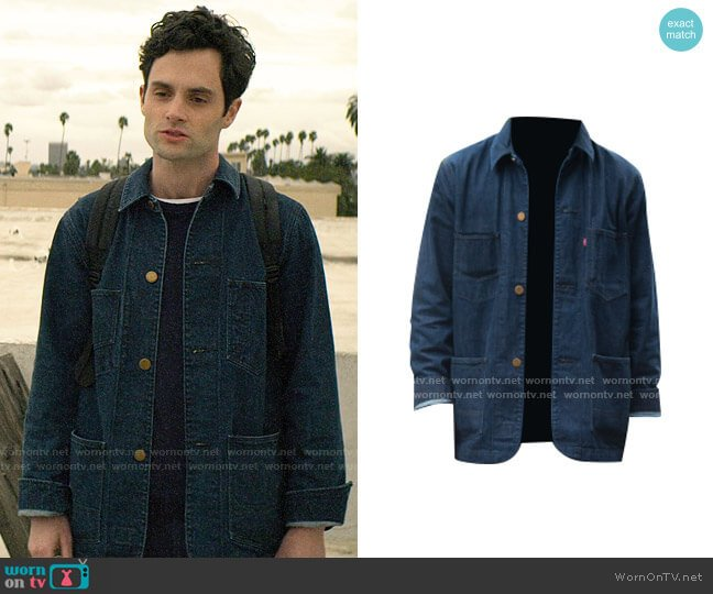 Levis Denim Coat worn by Joe Goldberg (Penn Badgley) on You