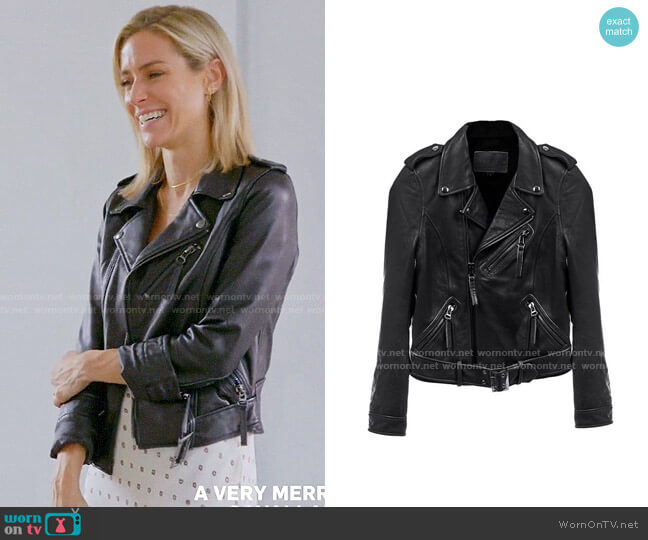 Linea Pelle Leather Moto Jacket worn by Kristin Cavallari  on Very Cavallari
