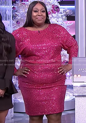 Loni's sequin dolman sleeve dress on The Real